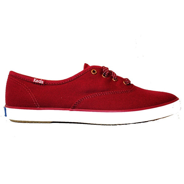Keds Champion - Seasonal Beet Red Solid Canvas Low Profile Sneaker