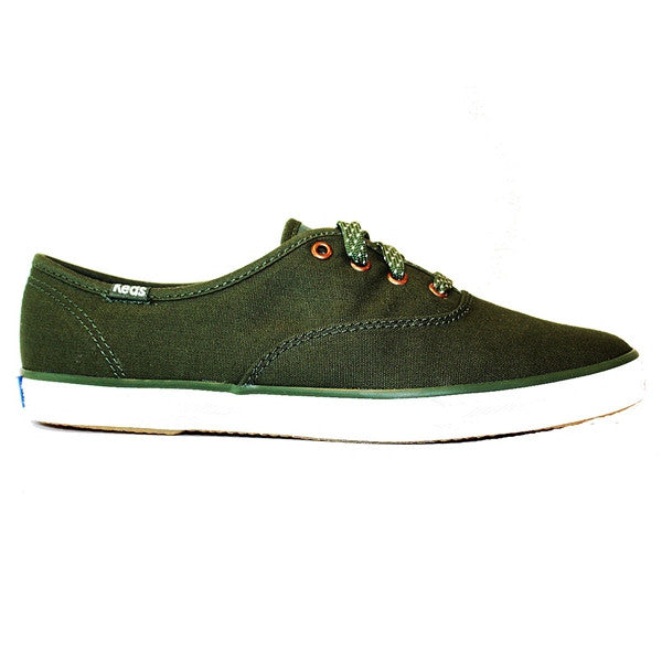 Keds Champion - Seasonal Green Solid Canvas Low Profile Sneaker