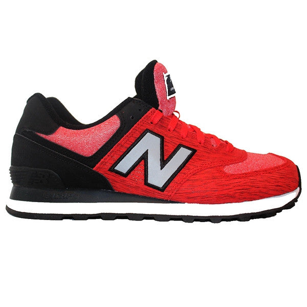 New Balance 574 - Sweatshirt Red/Black Suede/Mesh Lifestyle Sneaker