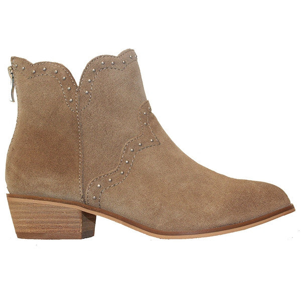 Chinese Laundry Saunter - Latte Suede Studded Bootie