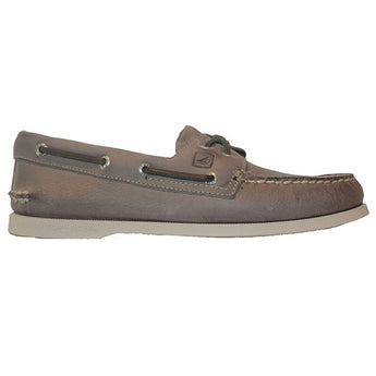 Sperry Top-Sider A/O 2-Eye Crosslace - Grey Leather Boat Shoe