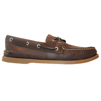 Sperry Top-Sider A/O 2-Eye Crosslace - Brown Leather Boat Shoe