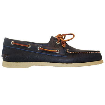 Sperry Top-Sider A/O 2-Eye - Tumbled Blue Leather Boat Shoe