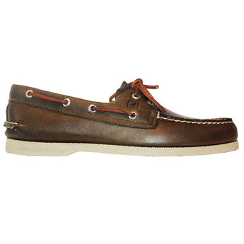 Sperry Top-Sider A/O 2-Eye - Tumbled Olive Leather Boat Shoe