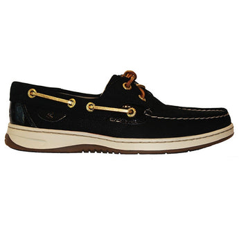 Sperry Top-Sider Bluefish - Micro Dot Black Leather Boat Shoe