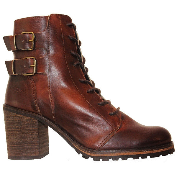 Coolway- Cue Leather Dual Buckle Lace-Up Boot