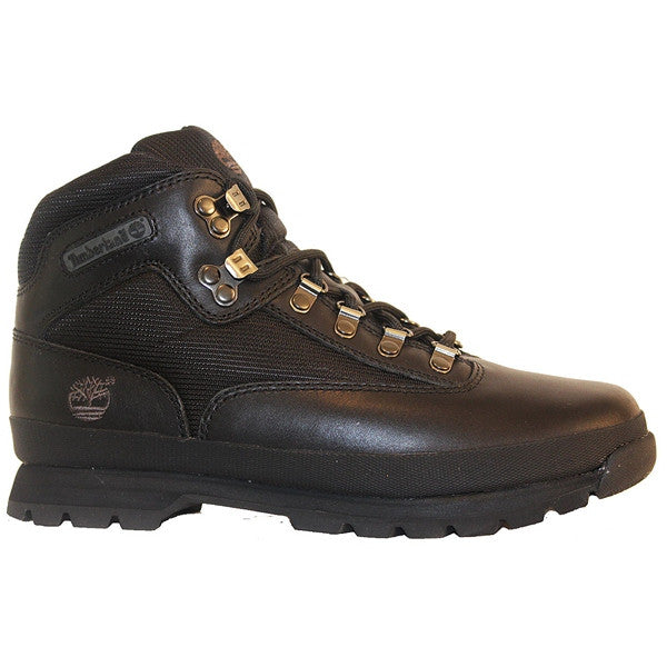 Timberland Earthkeepers Euro Hiker - Black Leather Hiking Boot