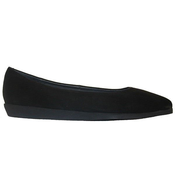 Jeffrey Campbell Kima - Black Suede Pointed Low Wedge Flat