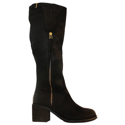 Steve Madden Antsy - Black Leather Tall Riding-Style Boot