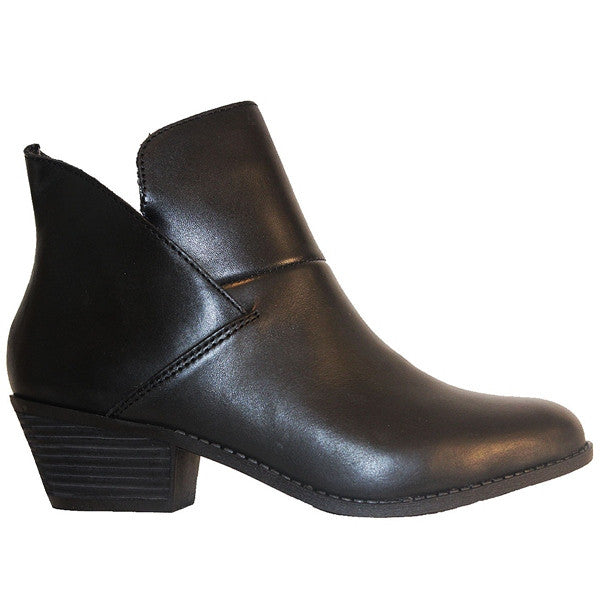 Me Too Zale - Black Leather Pull-On Bootie