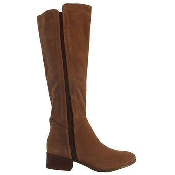 Steve Madden Pullon - Taupe Suede Tall Pull-On Riding Boot PULLON-TAUPE SUEDE - Size 5 -