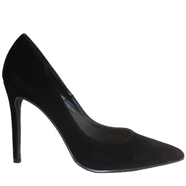 Penny Loves Kenny Opus - Black Suede Stiletto Pump