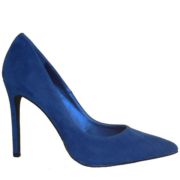 Penny Loves Kenny Opus - Blue Suede Stiletto Pump