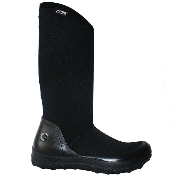 Bogs Kettering - Waterproof Black Rubber/Fabric Pull-On Tall Rain Boot