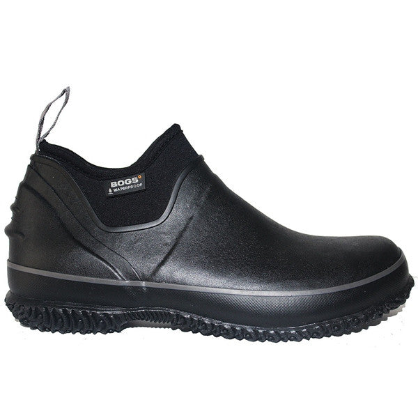 Bogs Urban Farmer - Waterproof Black Rubber/Fabric Pull-On Ankle Boot