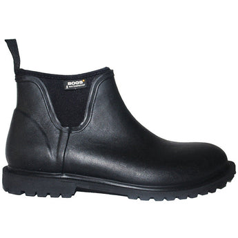 BOGS Carson - Waterproof Black Rubber/Fabric Dual-Gore Pull-On Boot