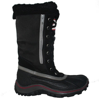 Pajar Alex - Waterproof Black/Grey Leather/Nylon Mid Pile-Lined Winter Boot