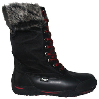 Pajar Garland - Waterproof Black Leather/Nylon Mid Fur-Lined Winter Boot