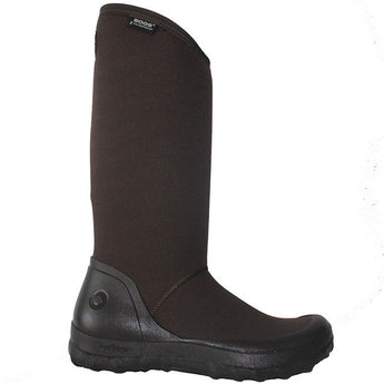 Bogs Kettering - Waterproof Brown Rubber/Fabric Pull-On Tall Rain Boot