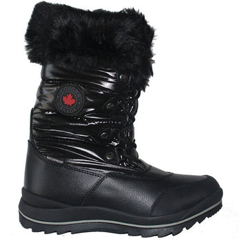Cougar Cranbrook - Waterproof Black Faux Fur-Lined Mid Winter Boot