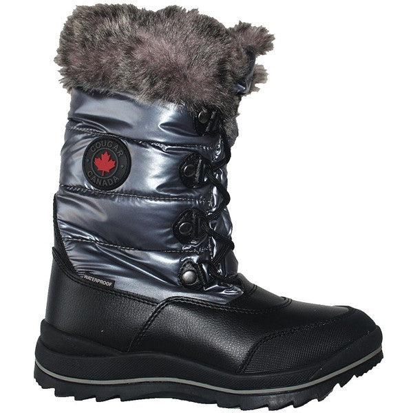 Cougar Cranbrook - Waterproof Gunmetal Faux Fur-Lined Mid Winter Boot