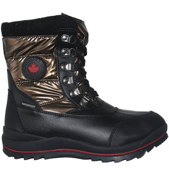 Cougar Chamonix - Waterproof Bronze Pile-Lined Short Winter Boot