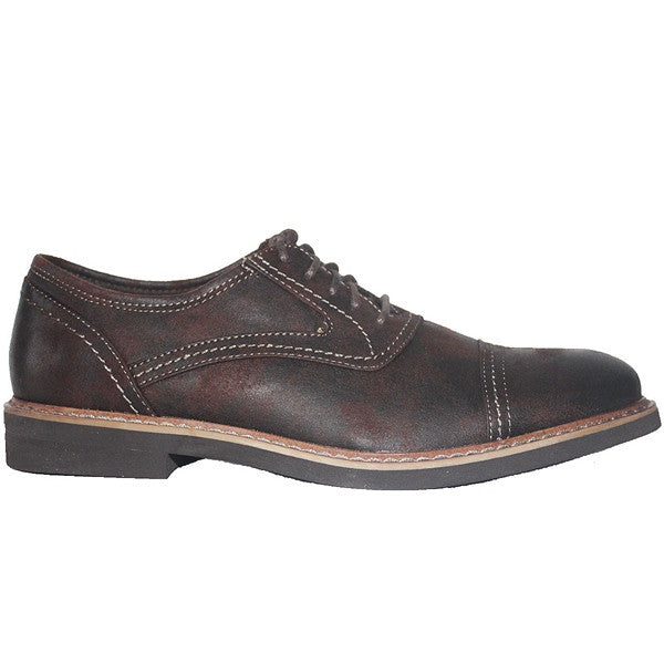 Deer Stags Oakton - Dark Brown Coated Canvas Cap Toe Oxford