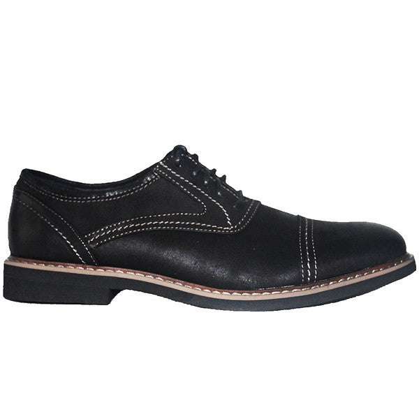 Deer Stags Oakton - Black Coated Canvas Cap Toe Oxford