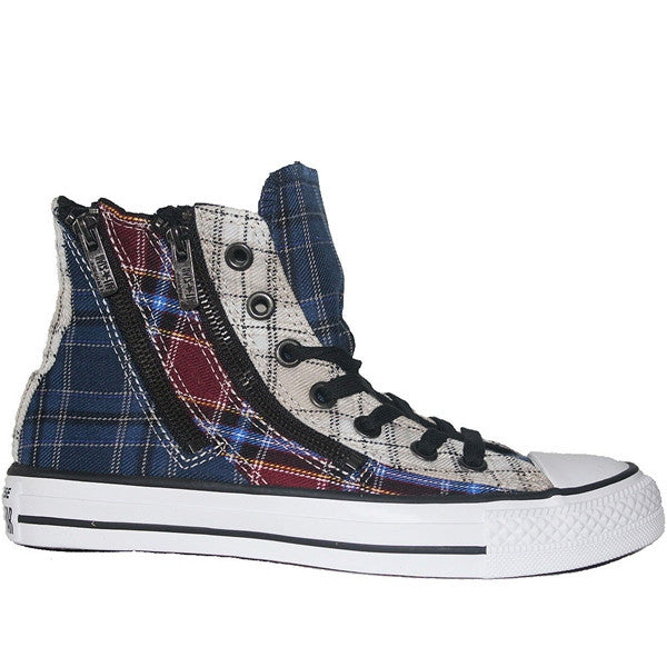 Converse All Star Chuck Taylor Plaid Dual Zip Hi - Navy Multi High Top Sneaker