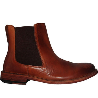 Kixters Sloan - Antique Brown Leather Pull-On Boot