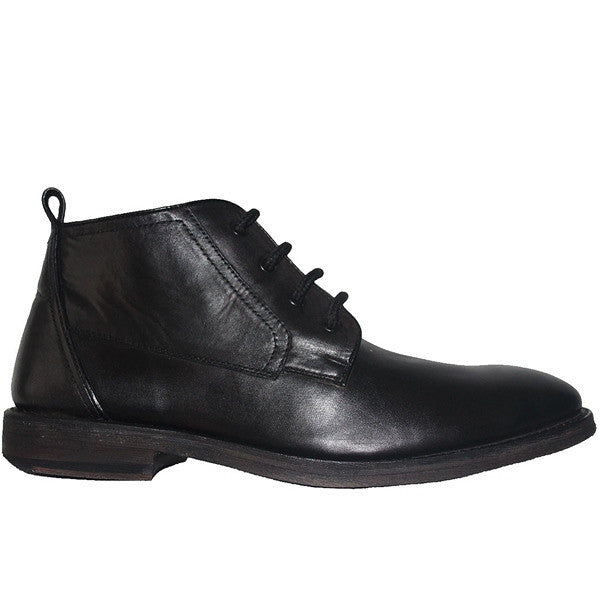 Kixters Albert - Powder Black Leather Chukka Boot