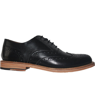 Kixters Carlo - Black Leather Wing-Tip Oxford