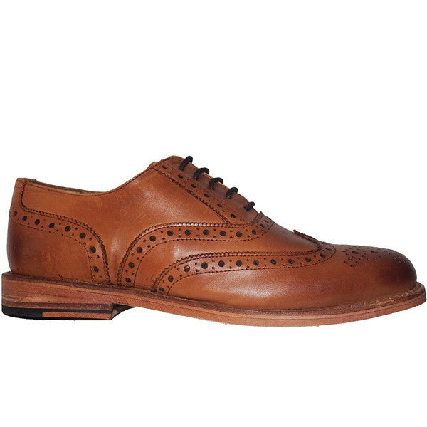 Kixters Carlo - Tan Leather Wing-Tip Oxford