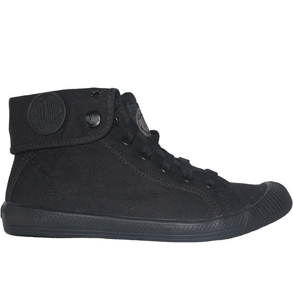 Palladium Flex Baggy - Black Canvas Snap-Over High Top Sneaker