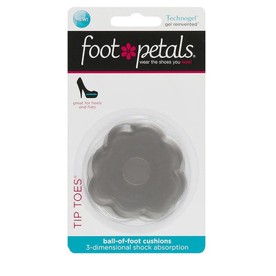 Foot Petals Tip Toes Techno Gel Charcoal