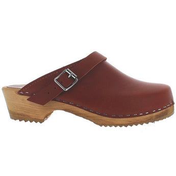 Mia Alma - Luggage Leather Slide Clog
