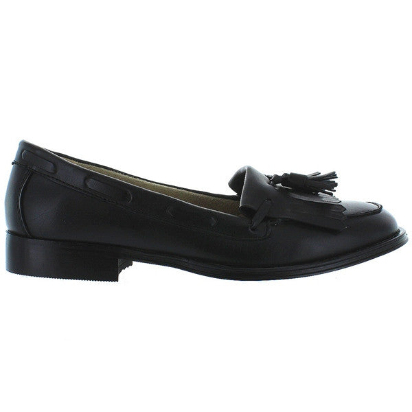 Wanted Charlie - Black Tassel Kiltie Loafer