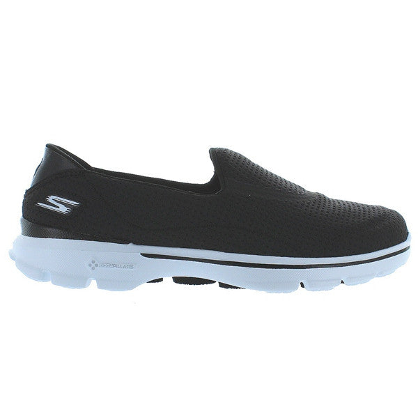 Skechers GOwalk 3 Unfold - Black/White Slip-On Walking Sneaker
