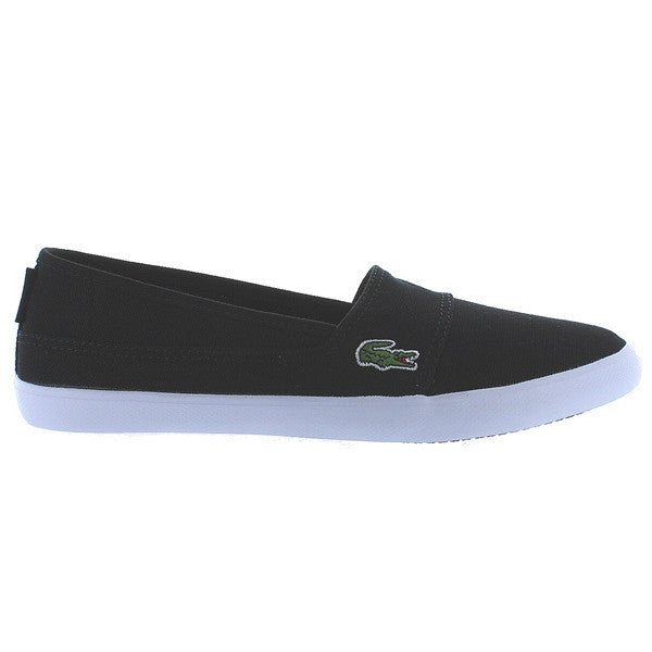 Lacoste Marice LCR - Dark Black/Black Slip-On Canvas Sneaker