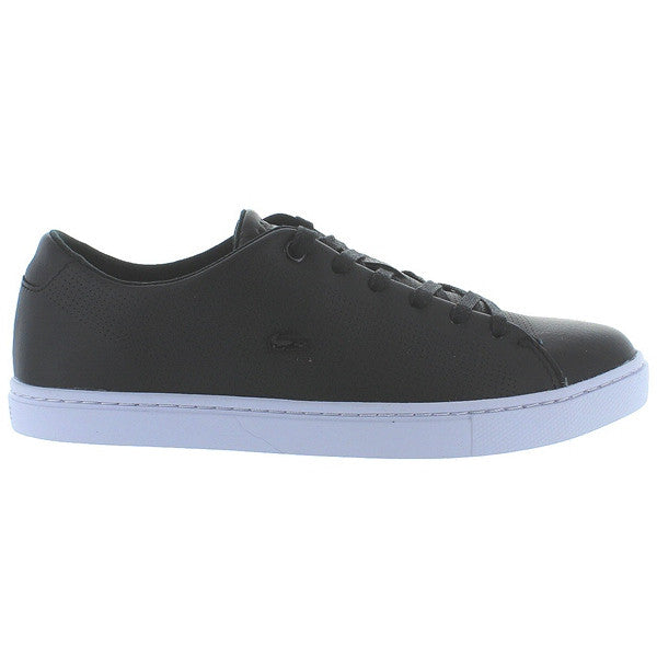 Lacoste Showcourt Lace - Black Leather Low Top Sneaker