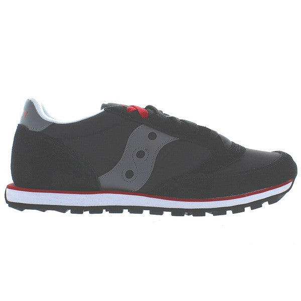 Saucony Jazz Mens Lo Pro - Black/Dark Grey Suede/Nylon Sneaker