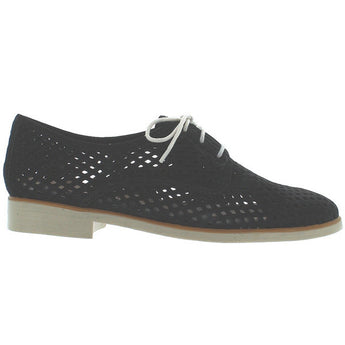 Chelsea Crew Woody - Black Nubuck Laser Cut Oxford