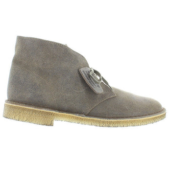 Clarks Originals Desert Boot - Taupe Distressed Suede Comfort Classic