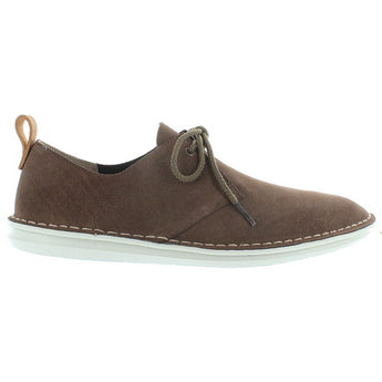Clarks Tamho Edge - Mushroom Suede Stitch-Out Oxford