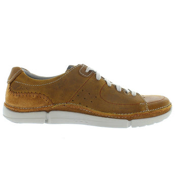 Clarks Trikeyon Mix - Tan Leather Athleisure Oxford
