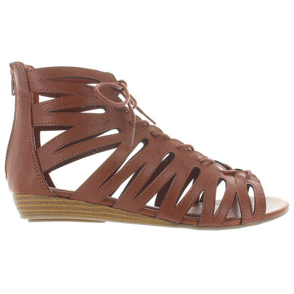 MIA Salena - Luggage Caged Wedge Sandal