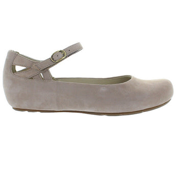 Earthies Capri - Taupe Soft Buck Mary Jane Flat