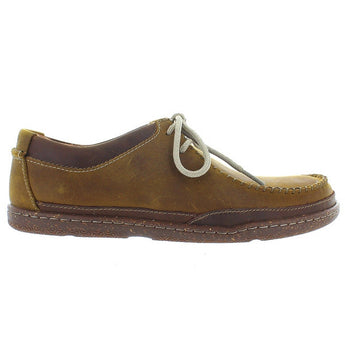 Clarks Trapell Pace - Tan Leather Lace-Up Moccasin
