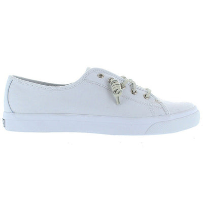 Sperry Top-Sider Seacoast Core - White Slip-On Canvas Vulcanized Oxford