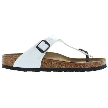 Birkenstock Gizeh - Birki Flor Bright White Patent Leather Thong Footbed Sandal